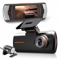 Caméra voiture Full HD double objectif