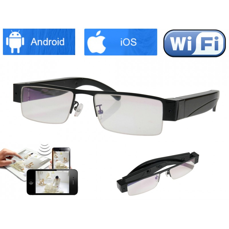lunettes cam ra espion wifi ind tectable. Black Bedroom Furniture Sets. Home Design Ideas